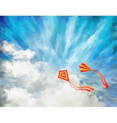 Sky Artistic Background vector image vector image