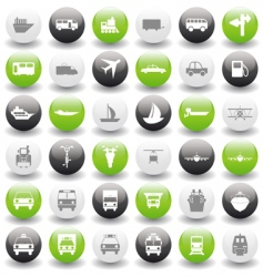 transportation icons set vector image vector image