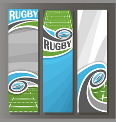 vertical banners for rugby vector image vector image