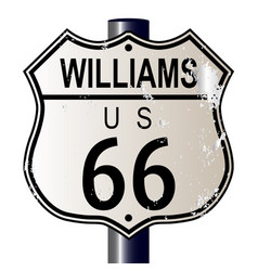 Williams route 66 sign vector