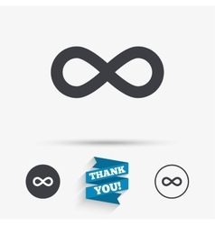 Limitless sign icon Infinity symbol vector image