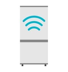Modern refrigerator kitchen flat vector image