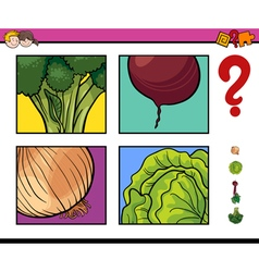 educational activity with vegetable vector image
