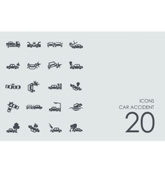 Set of car accident icons vector image