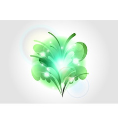 Abstract flower green light vector