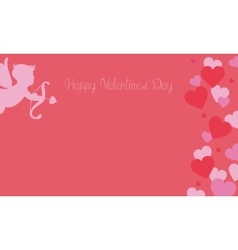 Valentine day backgrounds with cupid and love vector