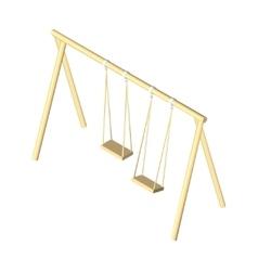 Children isometric swing eps vector