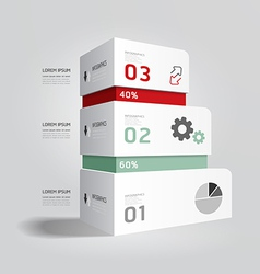 Infographic template modern box design minimal vector