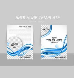 Water design brochure vector
