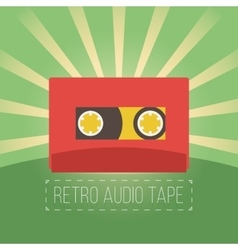Retro audio tapes in flat style vector