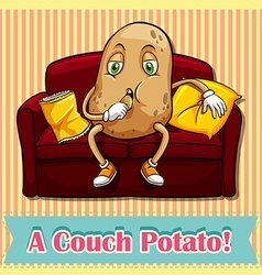 Counch potato vector