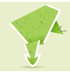 paper origami arrow element for design vector image