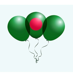 Balloons in white red as bangladesh national flag vector