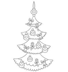 Beautiful cartoon xmas tree vector