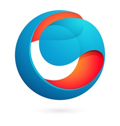 Abstract sphere logo vector