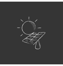 Solar energy Drawn in chalk icon vector image