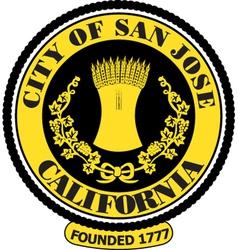 Sanjose city seal vector image