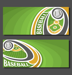 Banners for baseball vector