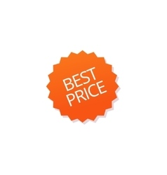 Best price badge tag isolated sticker icon vector image vector image