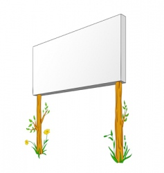 blank billboard on wooden column vector image vector image