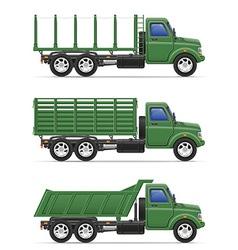cargo truck 16 vector image vector image