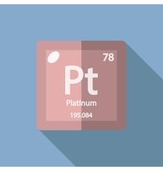 Chemical element platinum flat vector