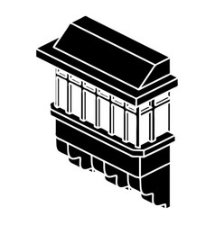 classic balcony icon simple style vector image