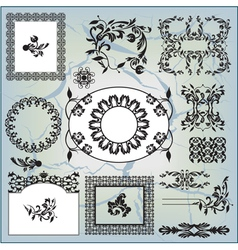 collection of abstract pattern vector image