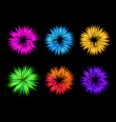 colourful explosion for holi set vector image vector image