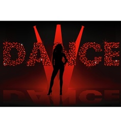 Dance Wallpaper vector image vector image