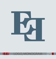 E e monogram logo vector