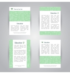 Education banners with scientific formulas vector
