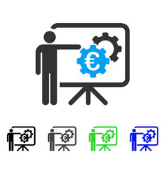 Euro industrial project presentation flat icon vector