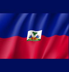 Flag haiti realistic icon vector