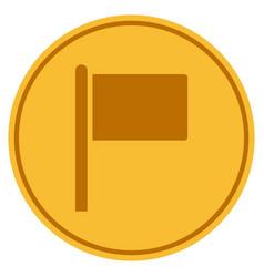 Flag pointer gold coin vector