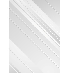 Grey minimal tech striped flyer background vector