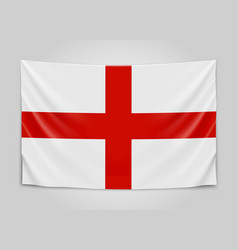 hanging flag of england england national flag vector image vector image