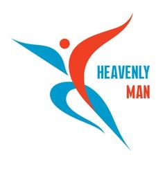 Heavenly man - creative logo sign vector