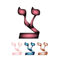 Hebrew font The Hebrew language The letter vector image vector image
