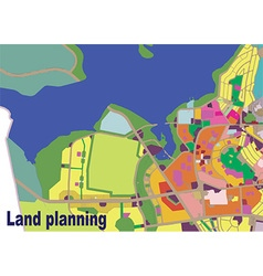 Land planning color vector