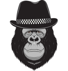 Monkey with a hat vector