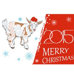 New year 2015 and merry christmas greeting card wi vector