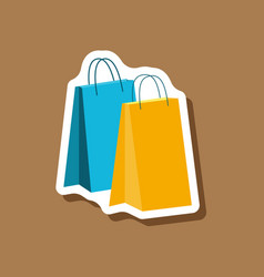 Paper sticker fashion clothes paper bags vector