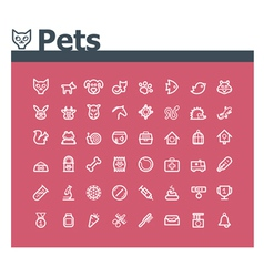 Pets icon set vector image