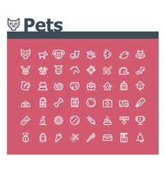 Pets icon set vector