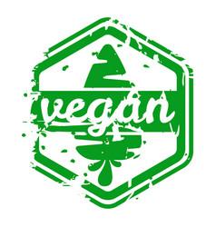 retro vegan teal vintage stamp for quality vector image vector image