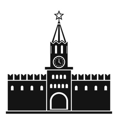 Russian kremlin icon simple style vector