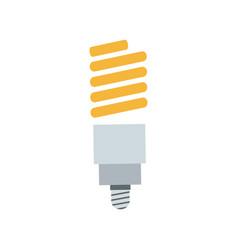 saving light bulb electricity energy vector image