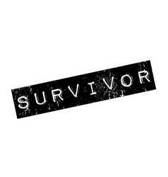 survivor rubber stamp vector image
