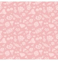 Sweet pink valentine pattern vector